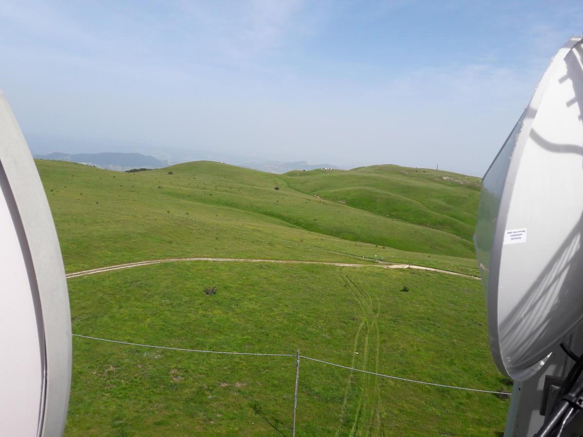 vista da impianto di telecomunicazione