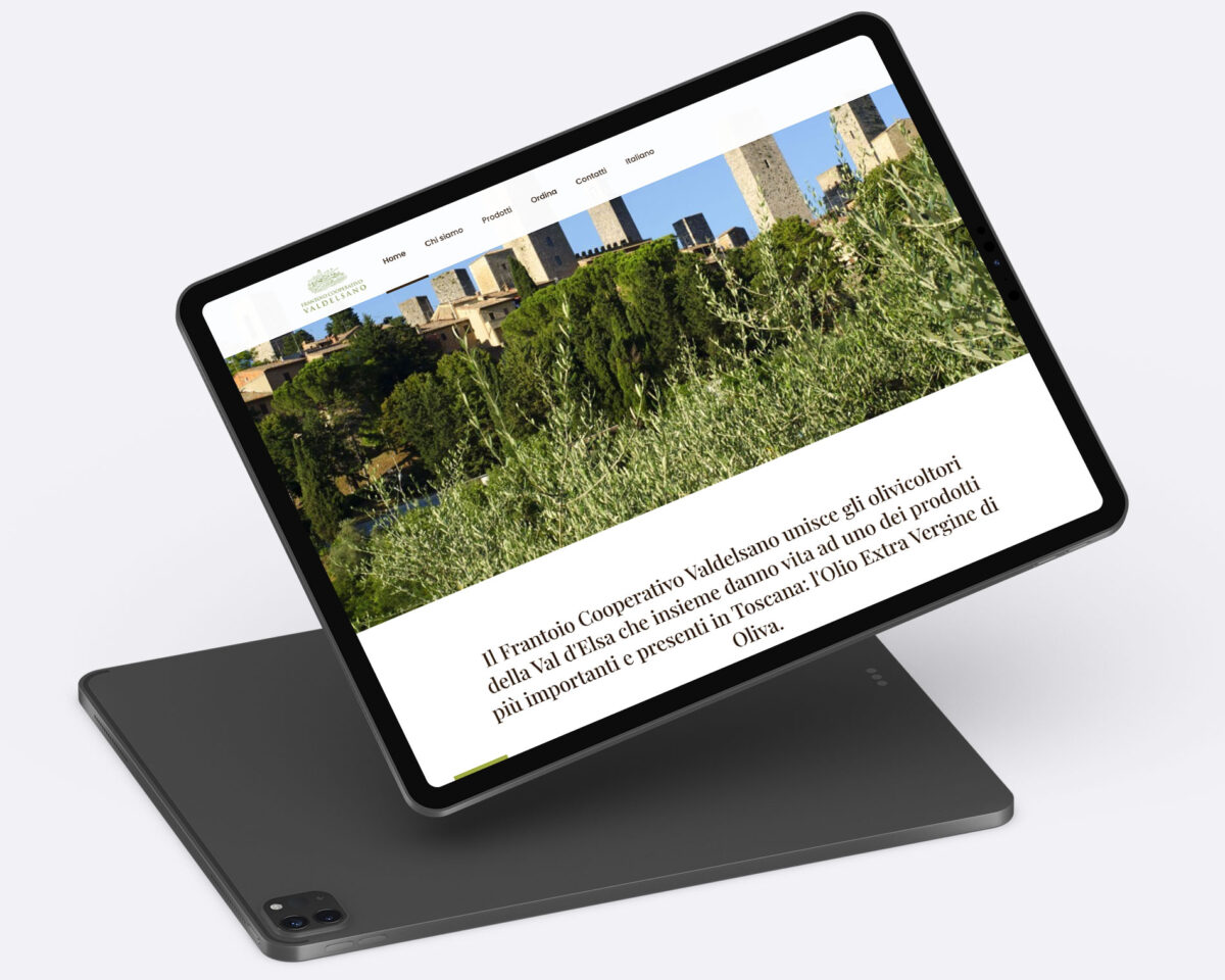 frantoio valdelsano web design