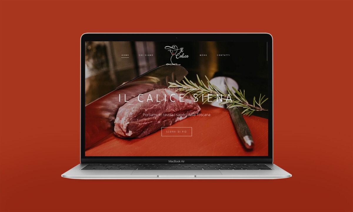 web design ristorante il calice siena